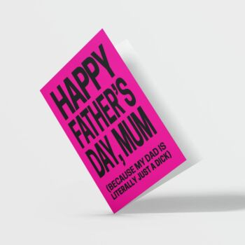 Happy Father's Day Mum Card