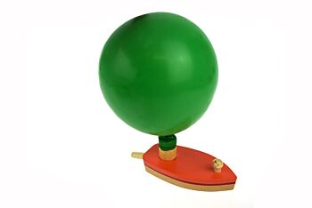 BALLOON POWERED WOODEN BOAT
