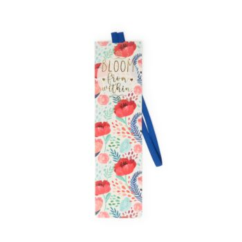 Bookmark With Elastic Band - Flowers