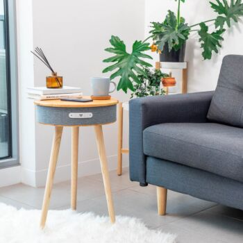 Clevinger Smart Side Table with Wireless Speaker and Phone Charger