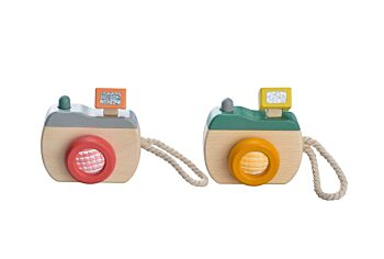 PRICE FOR 2 ASSORTED WOODEN CAMERA