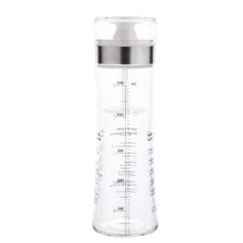 Gourmet Kitchen 500Ml Salad Dressing Shaker With Measurments - Clear