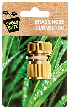 Brass Hose Connector W/Stop 1/2