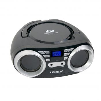 TOP LOADING CD PLAYER WITH FM RADIO - BLACK