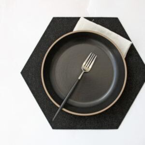 THE JOINERY   Place Mat Set of 4 - Hexagonal - Grey