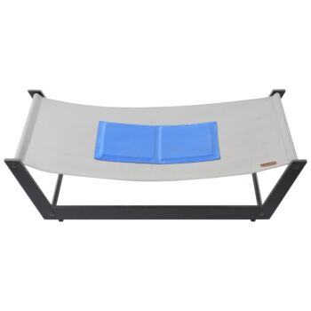 Charlie's Pet Elevated Trampoline Pet Bed with Gel Cooling Mat
