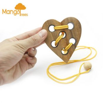 """MANGO TREES """"Only One Love""""-High Quality Wood Wooden 3D Brain Teaser Puzzles"""