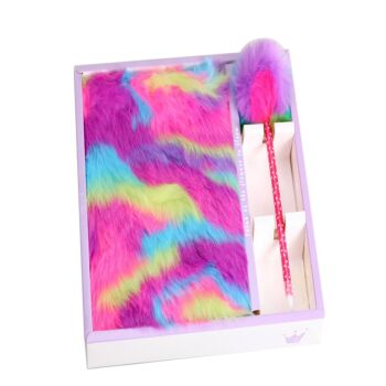 Fluffy Notebook Combo gift pack  (with pen) - 10 in a box