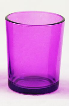 24 Pack - Purple Violet Glass Table Tealight Cup Shot Glass Candle Holder Event Decoration