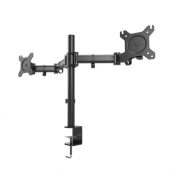 """Dual Monitor Stand Arm HD LED Screen Desk Holder Bracket Vision Mounts up to 8kg 27"""""""