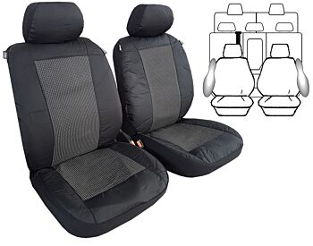 Tailor Made Custom Seat Covers Prado 3 Rows Airbag Safe Waterproof Outback Poly Canvas Charcoal for Toyota Prado 120 Series 02/2003-10/2009