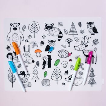 Colouring In Silicone Placemat - Forest [Starter Pack]