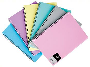 Note Book A4 120pg PP Cover Assorted Colours