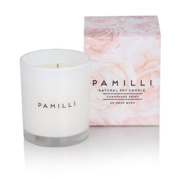 Natural Soy Candle - Champagne Roses
