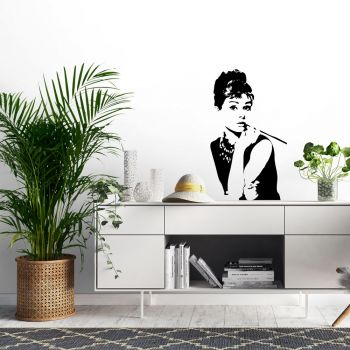 Audrey Wall Decal BLACK