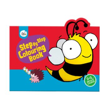 STEP BY STEP COLOURING BOOK 20 ANIMALS BEE