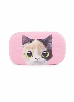 Quality PU Covered & Lined Trinket Case Cat Pink