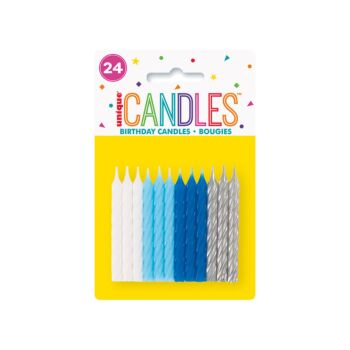 24 Sprial Candles Assorted