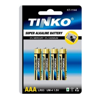 4x AAA Alkaline Battery Batteries Power 1.5v LR03 Tinko for Monitor Remote Alarm
