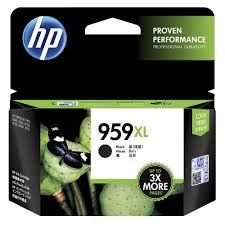 HP No. 959XL Black Ink for OfficeJet Pro 8210 / 8216 / 8720 / 8730 / 8740 Estimated Page Yield 3000 pages - L0R42AA