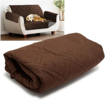 Sprint Industries Reversible Slipover Pet Couch Sofa Cover Protector Armchair
