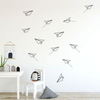 Paper Planes Wall Decal