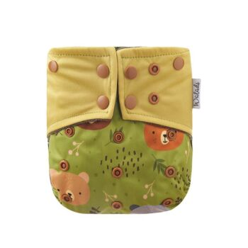 Green Forest Bear Bamboo Charcoal Cloth Nappy
