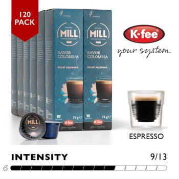 K-fee 120 Coffee Pods #9 Mr & Mrs Mill Colombia (Decaf) - Aldi Expressi K-fee Compatible