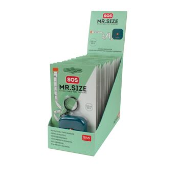 SOS Mr. Size - Tape Retractable - Display Pack of 12 Pieces