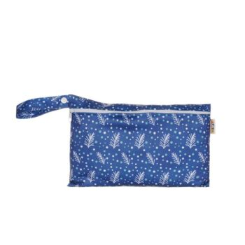 Pouch Wet Bag - Navy Leaves