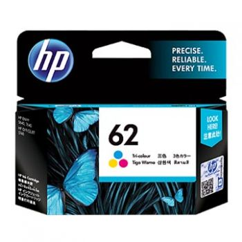 HP No. 62 Tri Colour Ink Cartridge - Estimated Page Yield 165 pages - C2P06AA