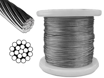 0.8mm 1x19 G316 Stainless Steel Wire Rope