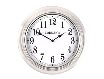 Cobb & CO. Stainless Clock