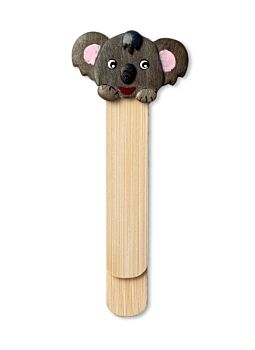 Bookmark Koala Animal Face|Lovely crafted Hand painted Wood