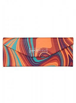Beautifuly Abstract PU Trifold compact Glasses Case Abstract Or Green