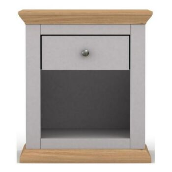 HANNAH COTTAGE STYLE BEDSIDE TABLE With Drawers 45 X H58CM Nightstand GREY Night Table