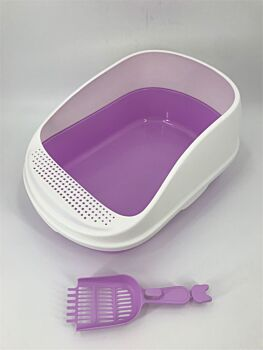 Large Portable Cat Toilet Litter Box Tray House with Scoop