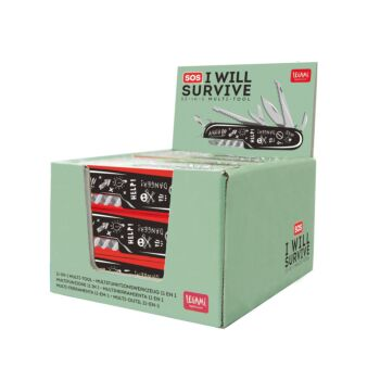 SOS I Will Survive - 11-In-1 Multi-Tool - Display Pack of 12 Pieces