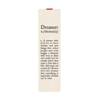 Bookmark With Elastic Band - Dreamer