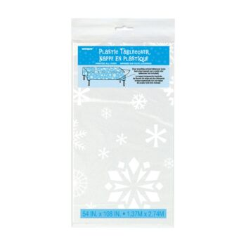 Tablecover Rect- Clear Snow Flakes