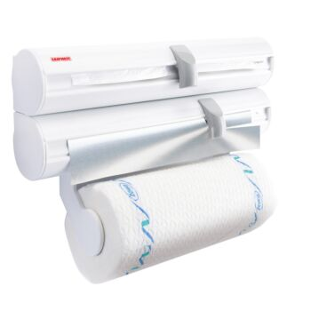 LEIFHEIT ROLLY MOBIL WALL MOUNTED ROLL HOLDER WHITE 25795