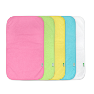 Stay-Dry Burp Pad 5 Pieces-Pink Set