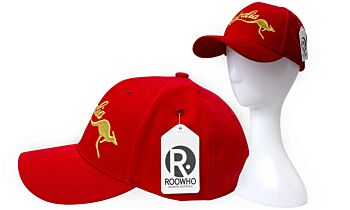 CAP, ROOWHO RED AUST GOLD ROO
