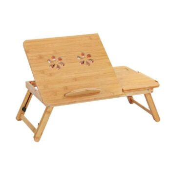 Foldable Bamboo Laptop Table, Bed Tray and Workstation