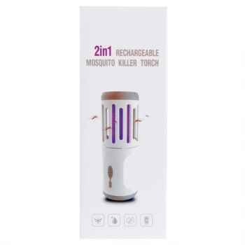 UV RECHARGEABLE MOSQUITO Torch Lamp