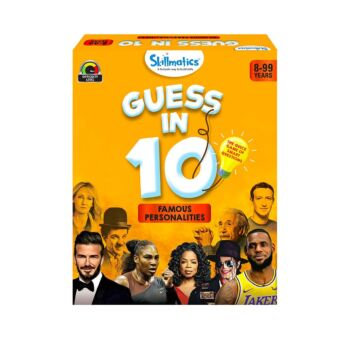 Skillmatics Guess in 10 Famous Personalities - Family Game Night General Knowledge Card Game of Smart Questions for Kids