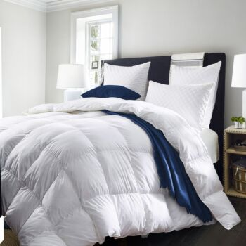 Royal Comfort 50% Goose Feather 50% Down 500GSM Quilt Duvet Deluxe Soft Touch