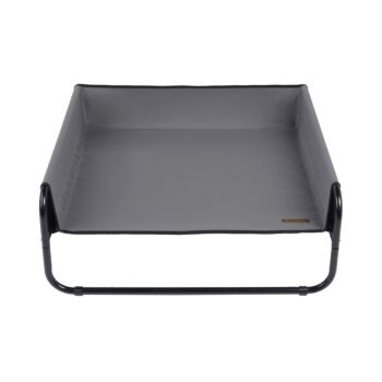 Charlie's Pet High Walled Outdoor Trampoline Pet Bed - Grey