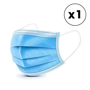 Face Mask 3 Ply Single Pack