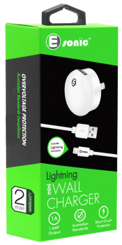 MINI USB WALL CHARGER LIGHTNING (for iPhone iPad)